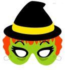 Máscara de una bruja de Halloween. Manualidaes a Raudales.