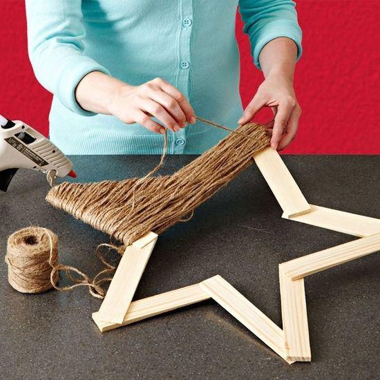 Estrella navidena trozos madera vieja for Manualidades con madera vieja