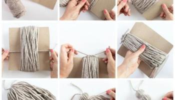60147621ad46 Como hacer borlas de lana para decorar pestillos de puertas
