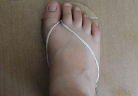 sandalias de carton