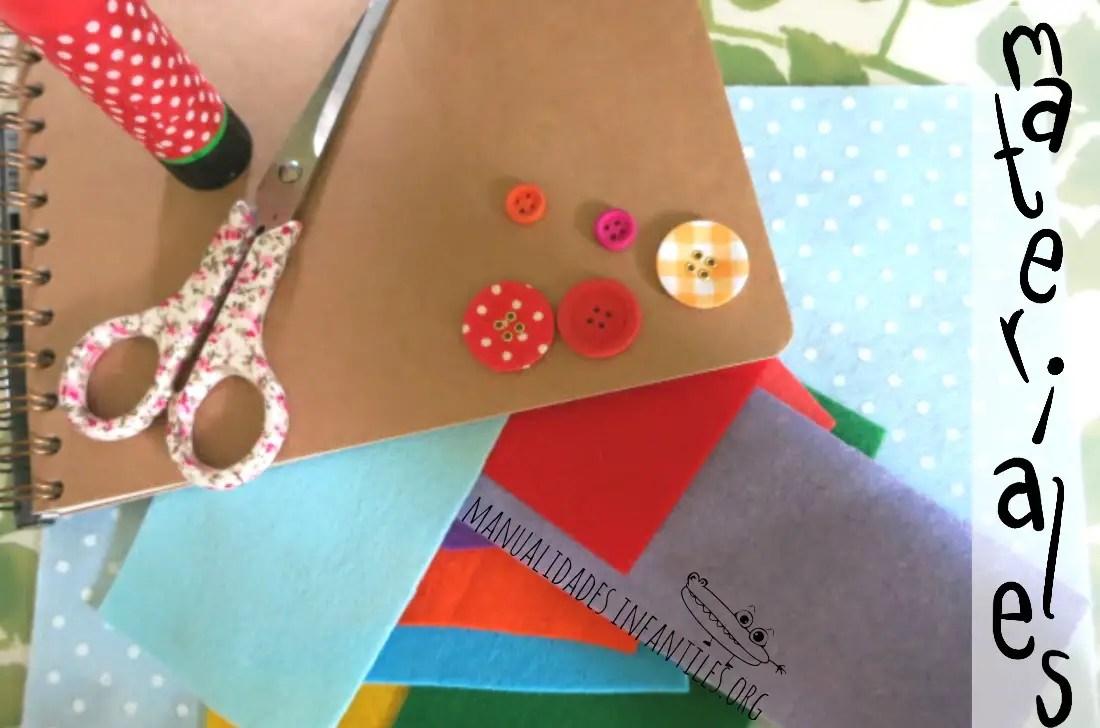 Materiales para decorar una libreta
