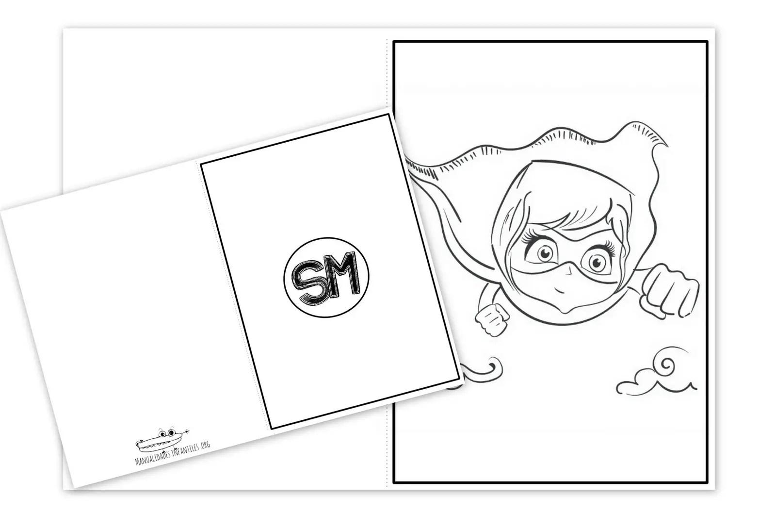 Tarjeta Super Mama Para Imprimir