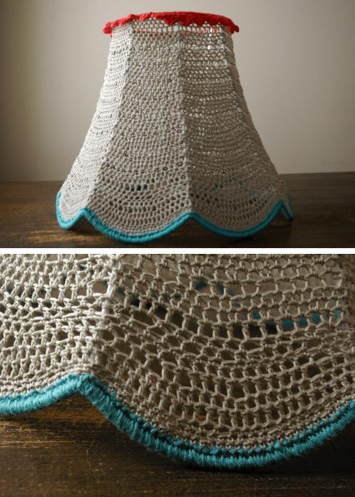 pantallas lamparas tejidas crochet 3