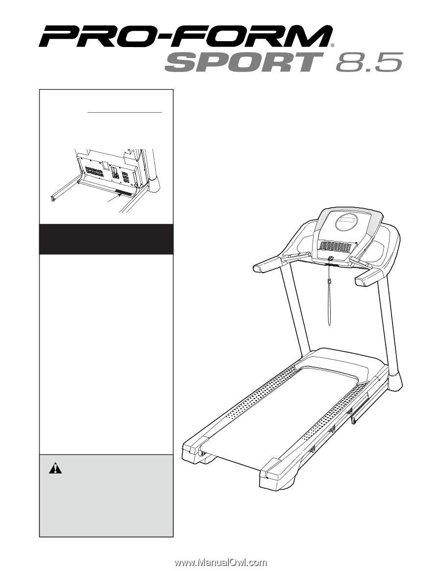 proform sport 8 5 treadmill french manual