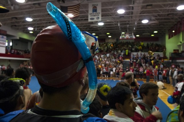In a sea of seniors, some use snorkels to breathe. Photo by Jack Steele Mattingly