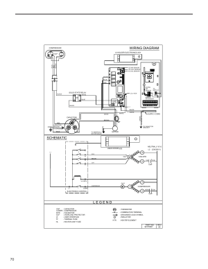 Wiring diagram schematic   Friedrich KUHL R410A User Manual   Page 71  87