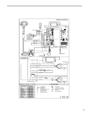 Schematic, Switch logic, Wiring diagram | Friedrich KUHL R410A User Manual | Page 76  87