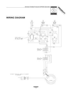 Wiring diagram | Generac SVP5000 97193 User Manual | Page 13  16