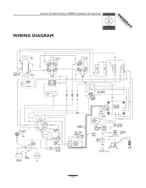 Wiring diagram | Generac 7000exl User Manual | Page 17  24
