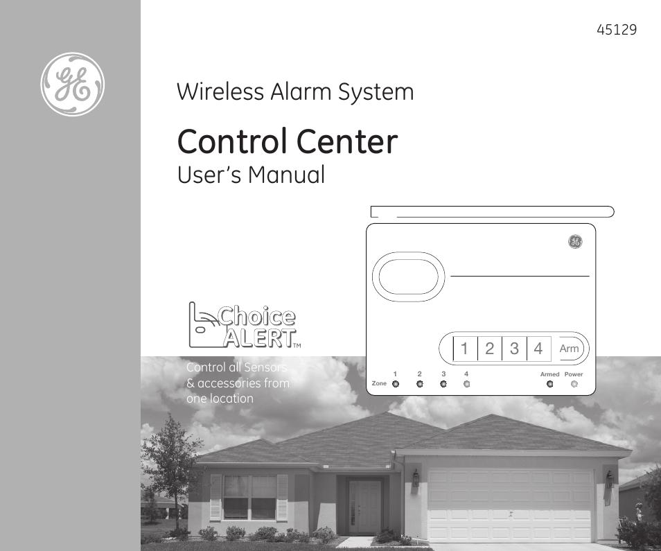 Ge 45129 Wireless Alarm System Manual