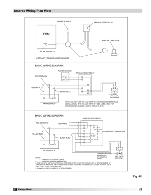 Amerex wiring plan view, Fig 46, Basic wiring diagram | Greenheck Fan 452413 User Manual | Page