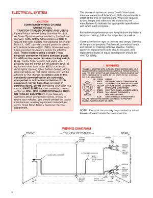 Electrical system, Wiring diagram, Warning | Great Dane