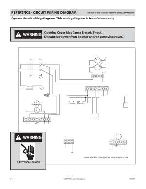 Warning, Reference  circuit wiring diagram, Power cord