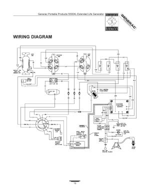 Wiring diagram | Generac 5500XL User Manual | Page 15  18