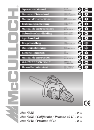 McCulloch Promac 46 II  46 cc User Manual | 14 pages