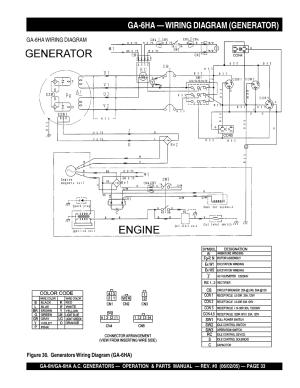 Ga6ha — wiring diagram (generator) | Multiquip MQ