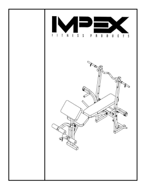 Impex COMPETITOR WM343 User Manual | 11 pages
