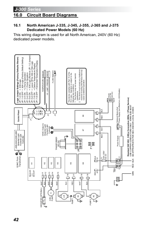 0 circuit board diagrams, Dedicated power models (60 hz