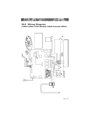 0 wiring diagram (60hz j350j360j370 models), 0 wiring diagram, Page 45 | Jacuzzi ProTech