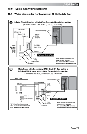 0 typical spa wiring diagrams, J400 series, Page 79