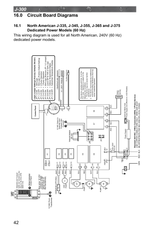 0 circuit board diagrams, Dedicated power models (60 hz) | Jacuzzi J  315 User Manual | Page 46
