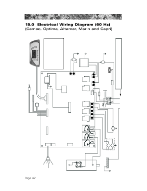 0 electrical wiring diagram (60 hz), Page 42 | Sundance Spas 850 User Manual | Page 46  52