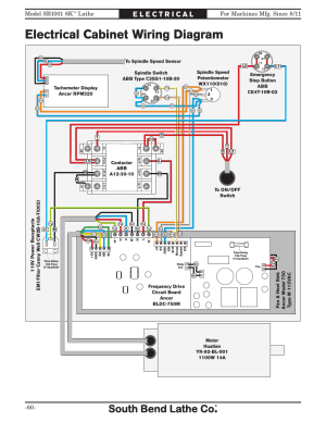 Electrical cabi wiring diagram, Lathe | Southbend
