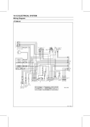Jt1500a1, Wiring diagram | Kawasaki STX15F User Manual