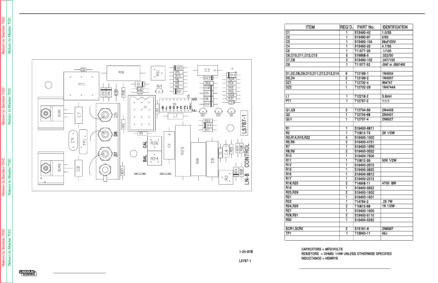 control board l layout electrical diagrams