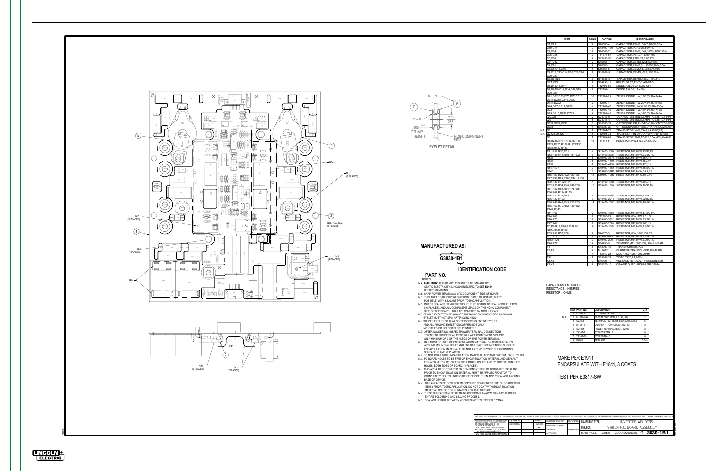 Electrical Diagrams G 12 Pc Board Assembly Switch