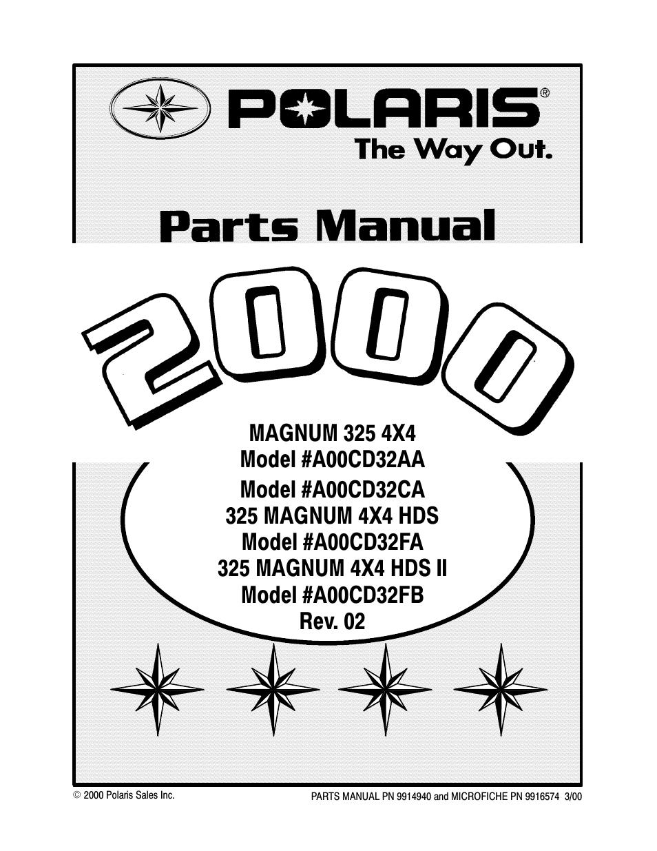 2000 Polaris Magnum 325 4x4 Wiring Diagram Electrical Diagrams 330 Manual Pdf Data U2022 Trail Boss