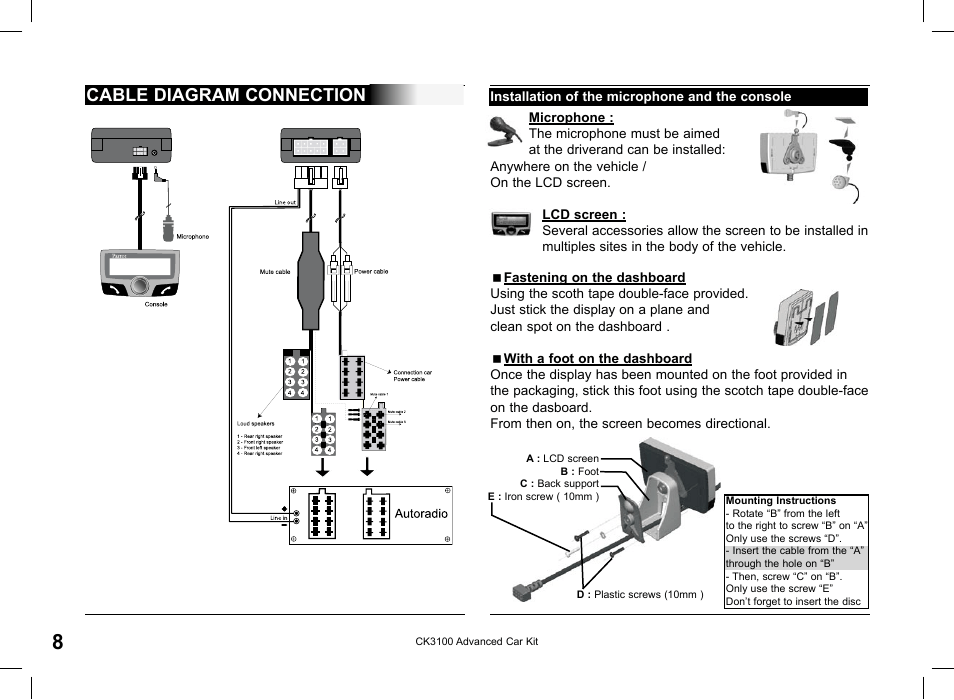Cable Diagram Connection