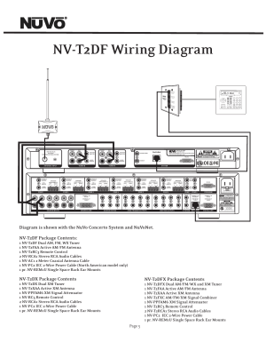 Nvt2df wiring diagram, Nvt2dx package contents, Nvt2dfx