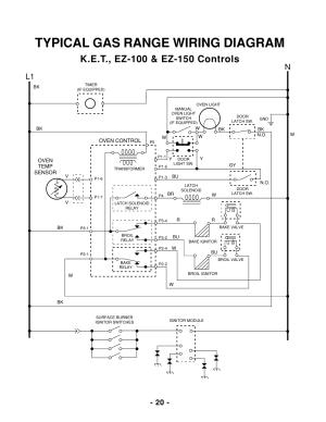 Typical gas range wiring diagram, L1 n   Whirlpool 465