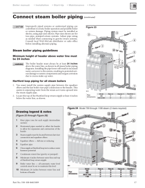 Connect steam boiler piping | WeilMcLain 88 User Manual