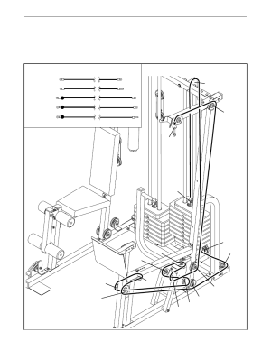 Cable diagrams   Weider PRO POWER STACK 831159831 User