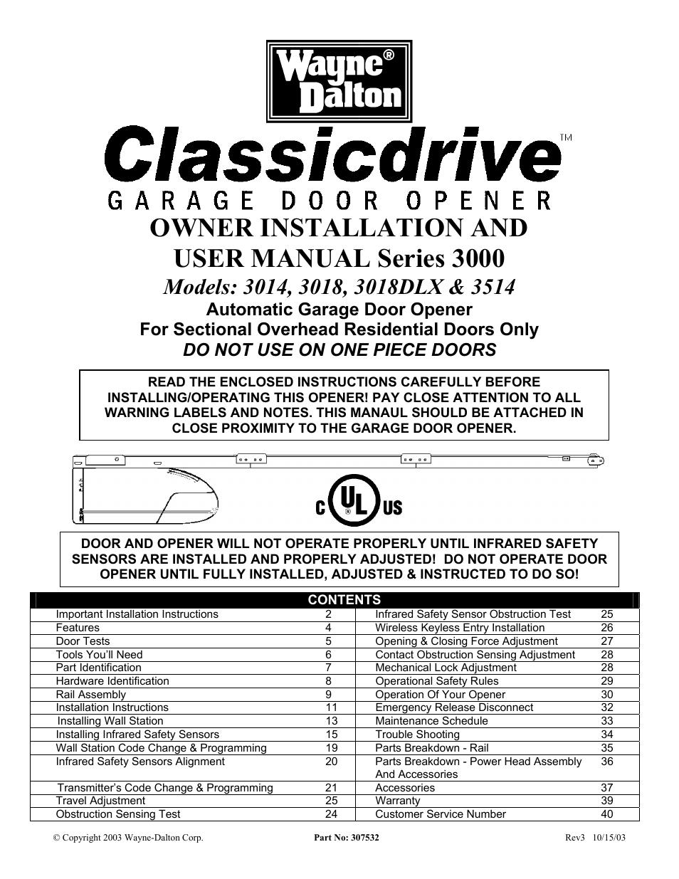 Wayne Dalton Garage Door Sensors