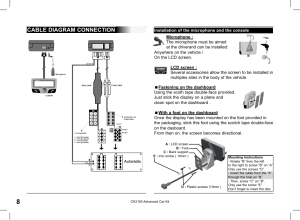 Cable diagram connection | Parrot CK3100 User Manual