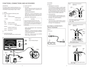 Functions, connections and accessories, Electrical system
