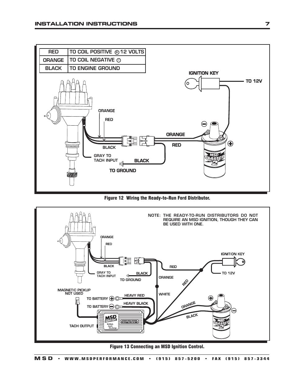 ford 460 msd 7al wiring diagram