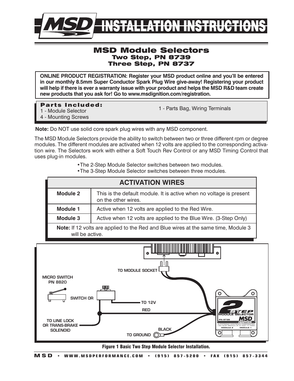 msd 8739 two step module selector installation page1?resize\\\\\\\=665%2C861 msd 6m 2 wiring diagram msd fuel pump, msd wiring book, msd msd 7al 3 wiring diagram at cos-gaming.co