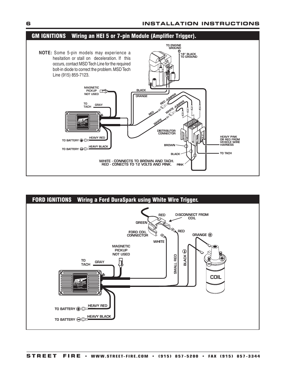 Msd Street Fire Ignition Wiring Diagram Schematic Diagrams 6tn Streetfire 5520 Somurich Com