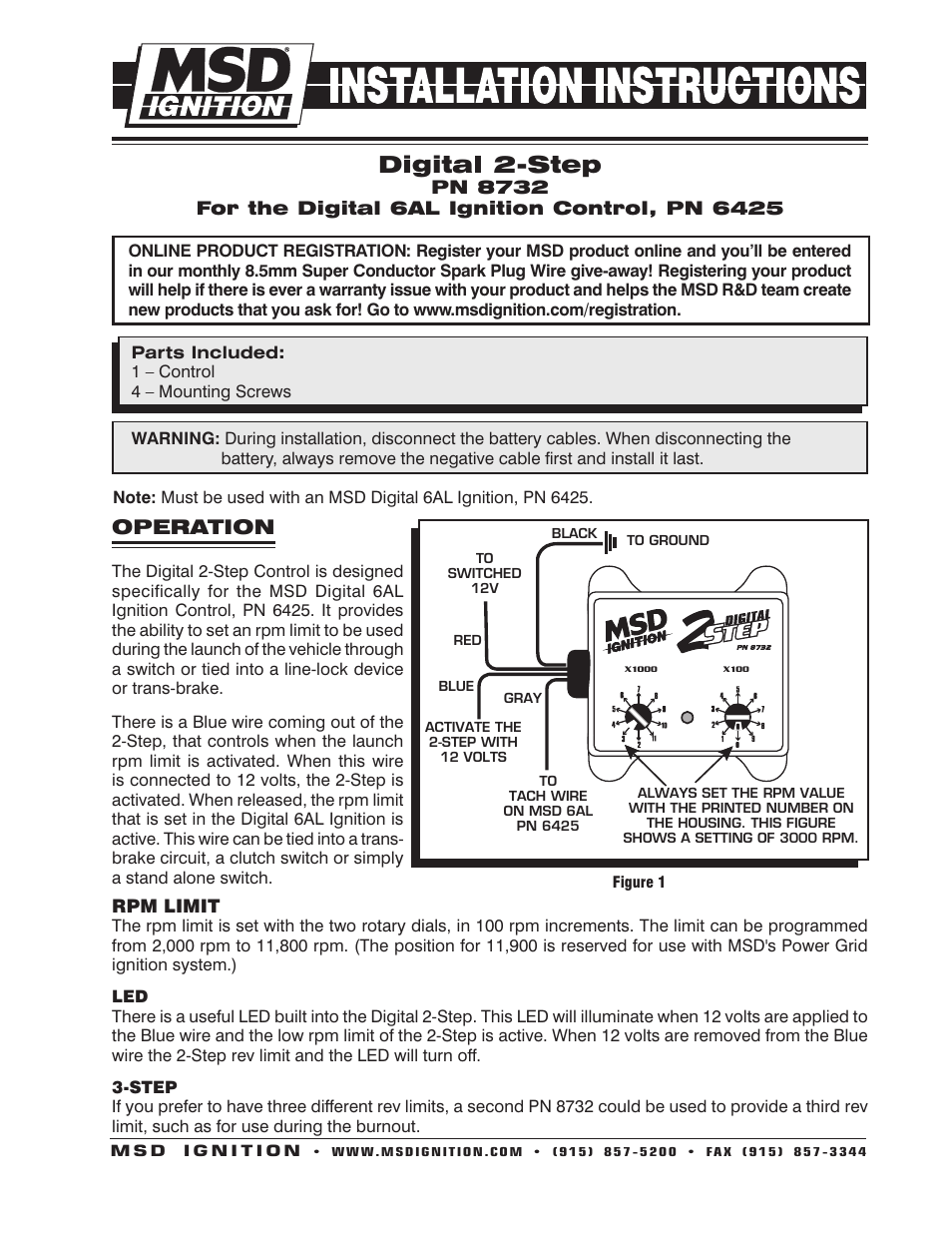 msd 8732 2 step rev control for digital 6al installation page1?resize=665%2C861 msd 6al 6425 wiring diagram msd wiring diagrams instruction msd digital 6al wiring diagram at readyjetset.co