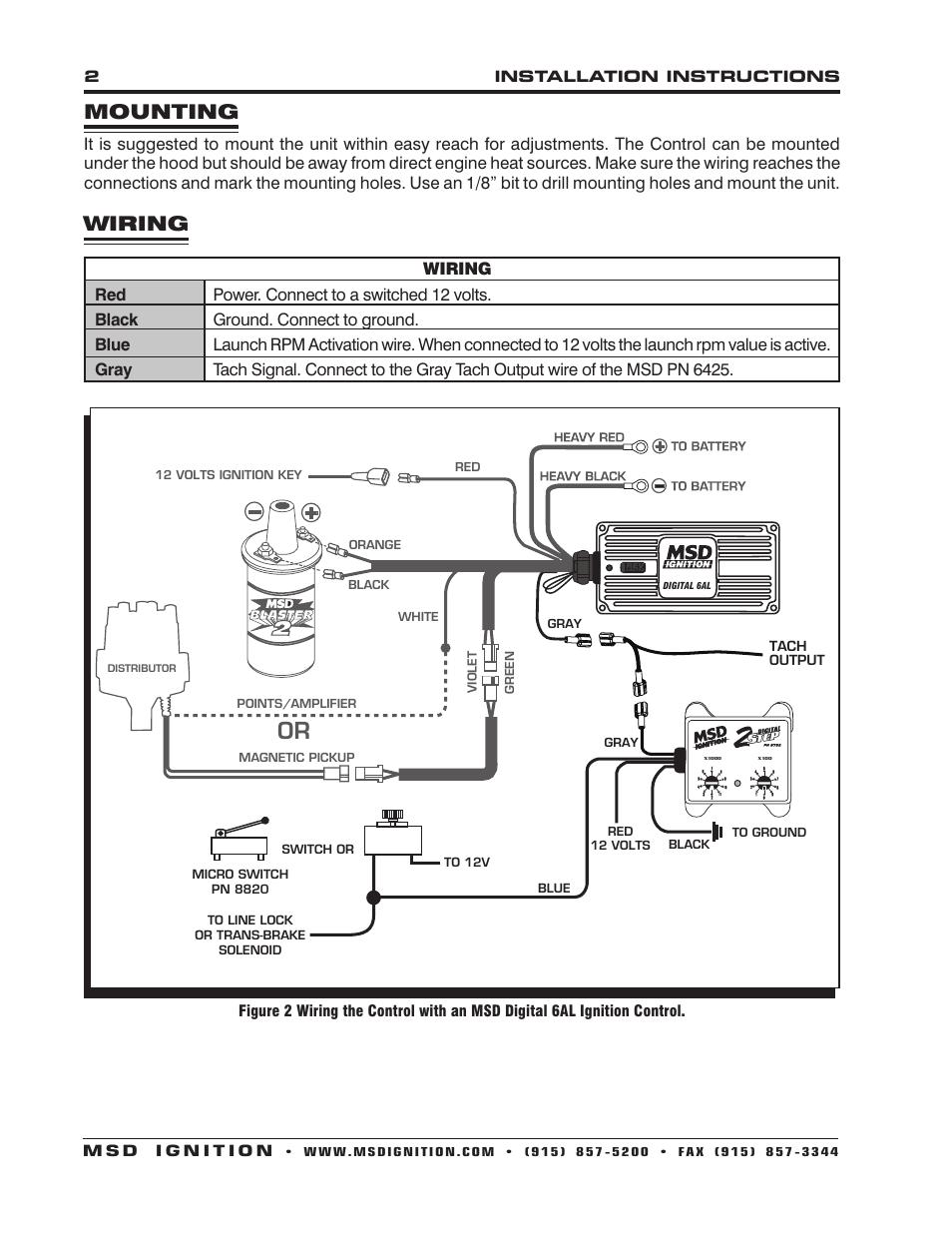 Msd Coil Wiring Diagram : Digital step msd wiring diagram
