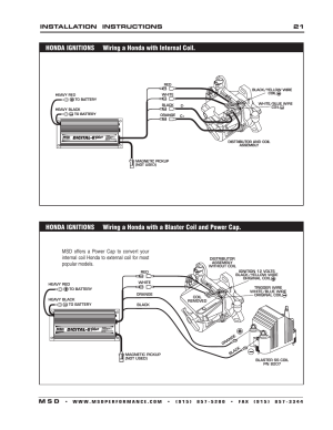 Installation instructions 21 m s d   MSD 6520 Digital 6Plus Ignition Control Installation User