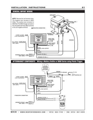 Installation instructions 21 m s d | MSD 6421 6AL2 Ignition Control Installation User Manual