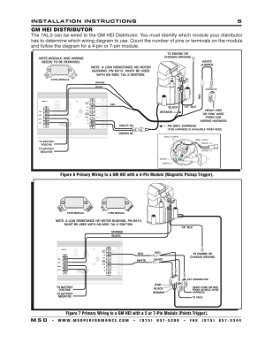 Gm hei distributor, Installation instructions 5 m s d | MSD 7330 7AL3 Ignition Control