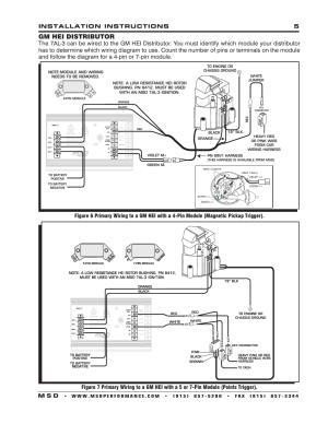 Gm hei distributor, Installation instructions 5 m s d