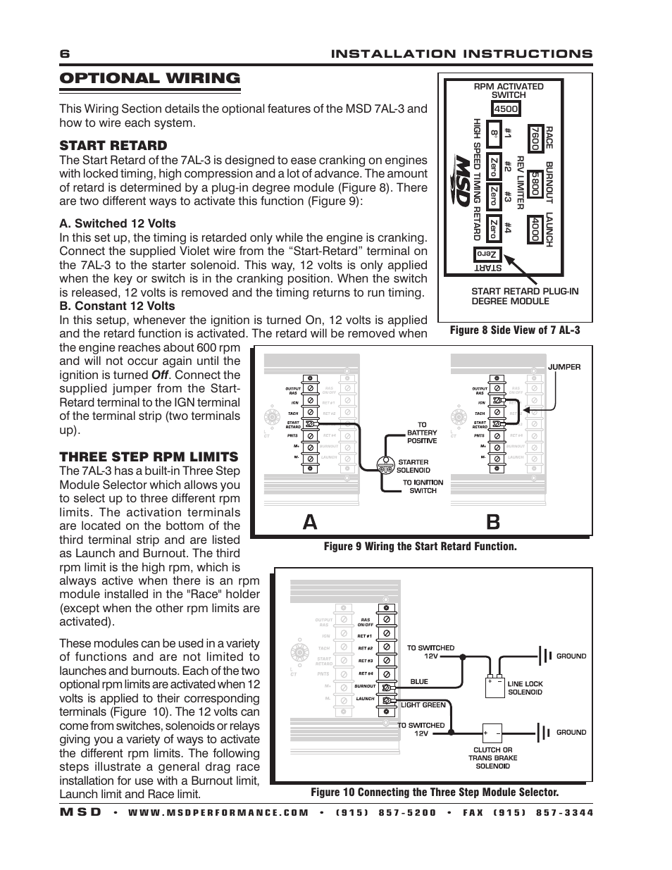 Msd Ignition Wiring Diagrams Msd 7al 3 Installation Instructions ...
