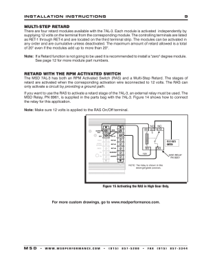 MSD 7330 7AL3 Ignition Control Installation User Manual